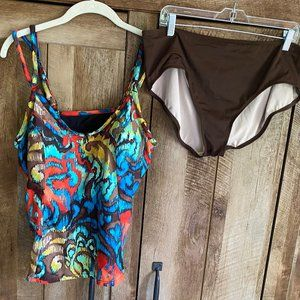 St John's Bay size 18 W Two Piece Swim Suit